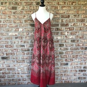 Gap 100% Cotton Smocked Back BOHO Maxi Dress 14